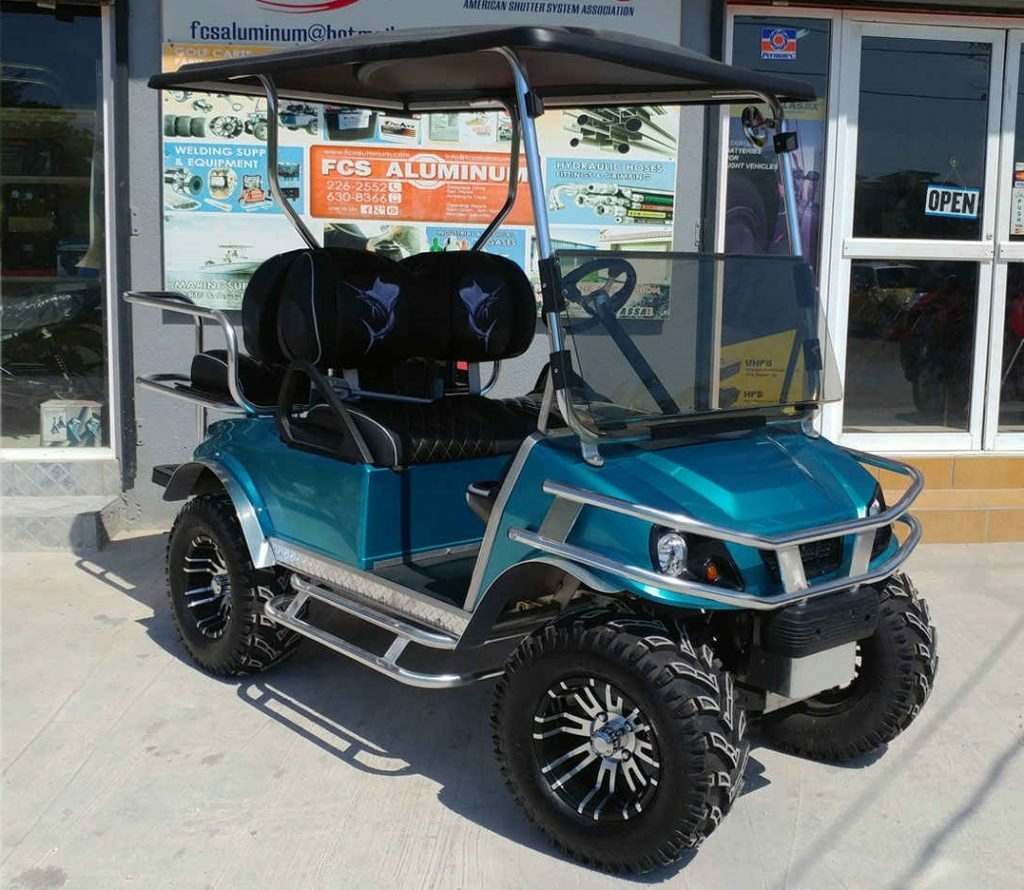 renting a golf cart in San Pedro Ambergris Caye Belize