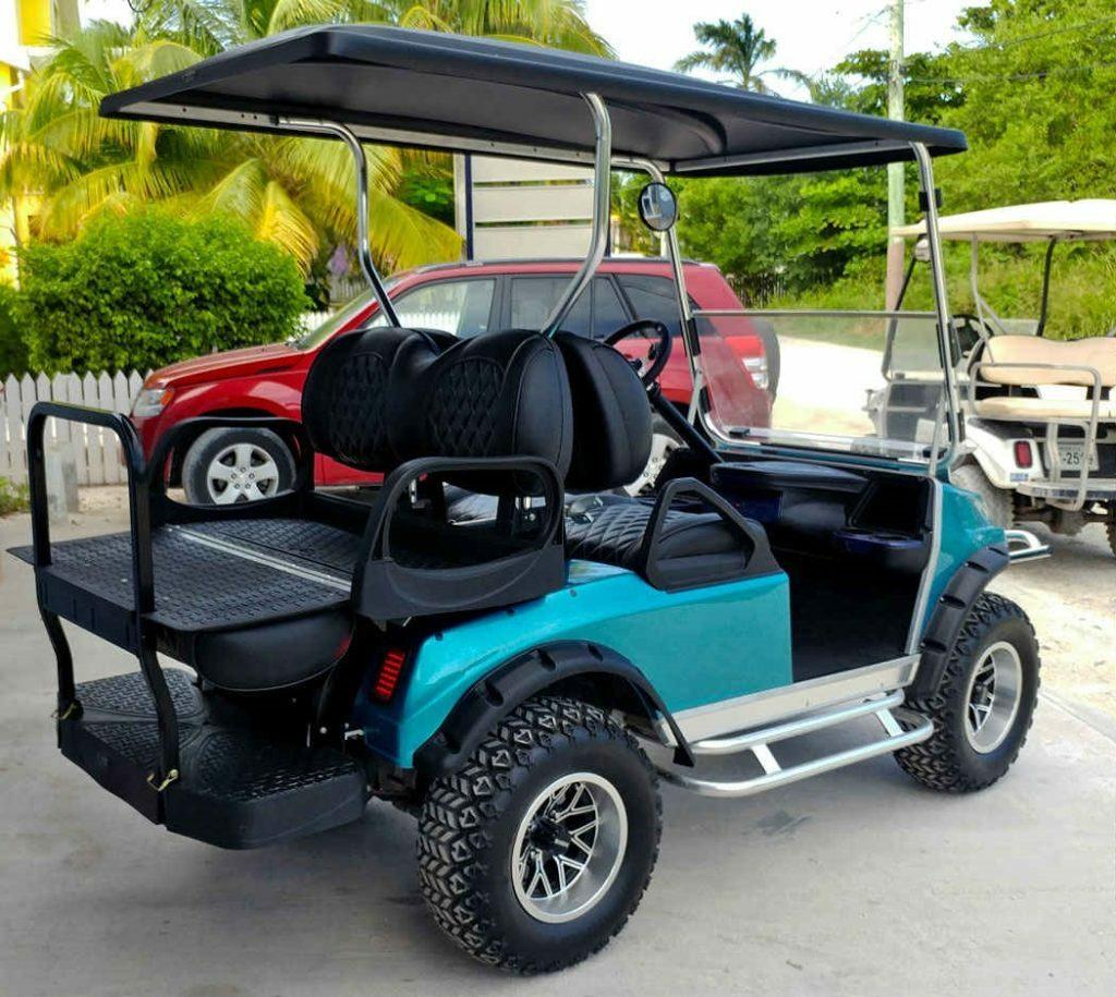 near San Pedro airport Ambergris Caye Belize golf cart rental prices